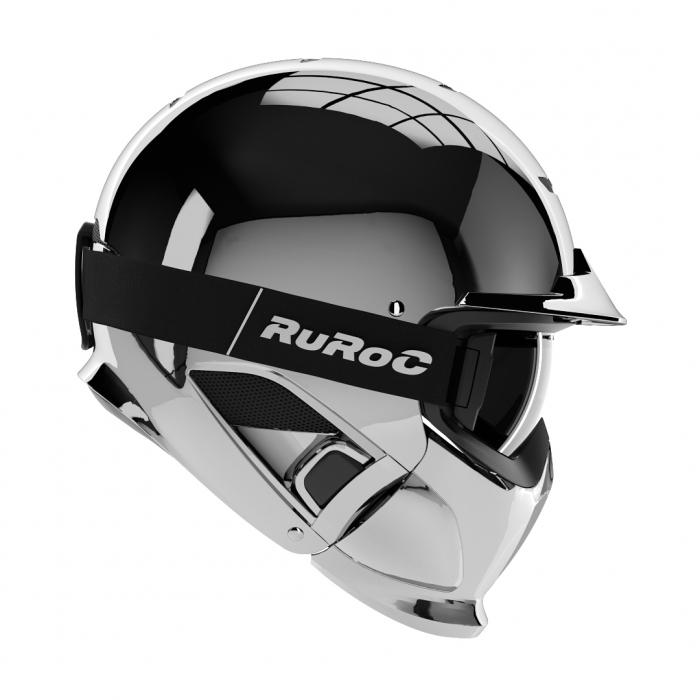 Casca Ruroc RG1-DX Silver Chrome 0
