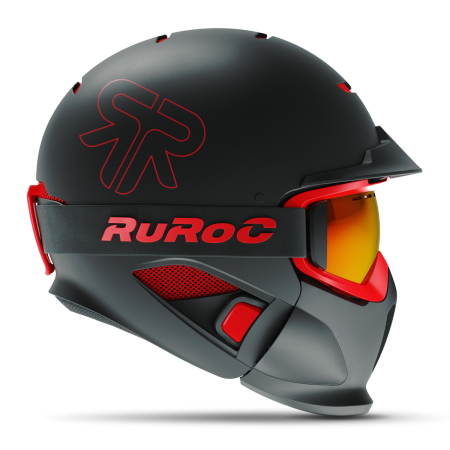 Casca fullface Ruroc RG1-DX Black Inferno