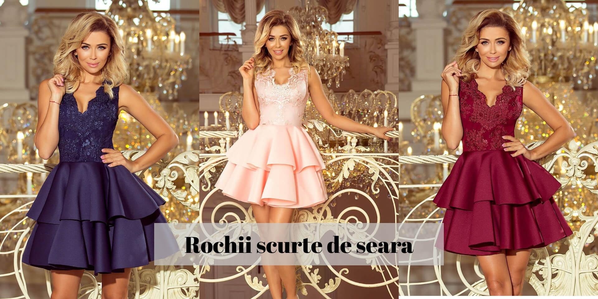 Rochii scurte de seara elegante