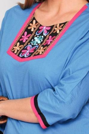 Camasa lunga de vara H.H.G. Spania, turquoise3