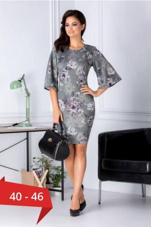 Rochie casual cu imprimeu floral Melania, verde0