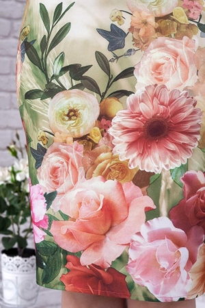 Rochie casual cu imprimeu floral Oana, alb/floral3