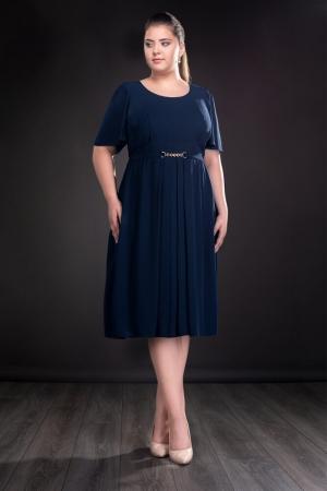 Rochie de ocazie din voal Lucinda, bleumarin0