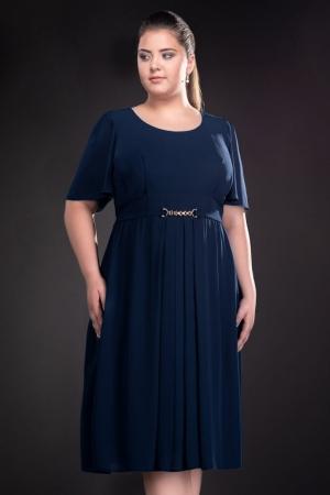 Rochie de ocazie din voal Lucinda, bleumarin1