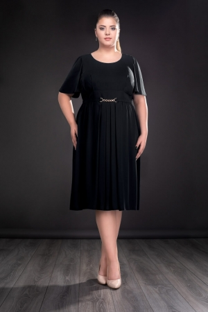Rochie de ocazie din voal Lucinda, negru0