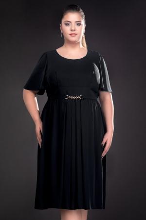 Rochie de ocazie din voal Lucinda, negru1
