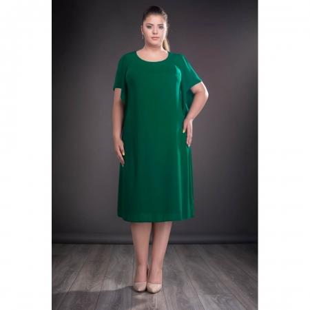 Rochii voal - Rochii femei plinute Casiana verde