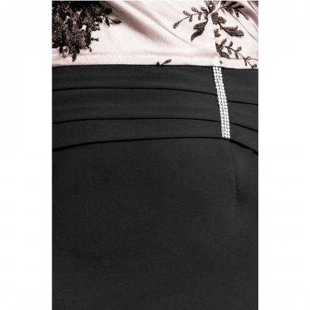 Rochie de seara cu dantela Brigita, negru/bej