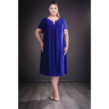 Rochie de seara din voal marimi mari Renata, albastru