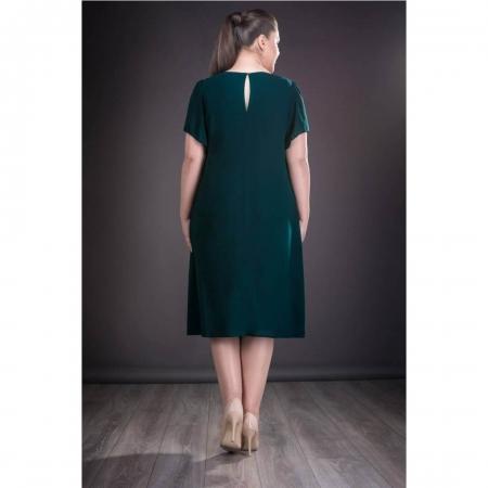 Rochie de seara din voal marimi mari Renata verde