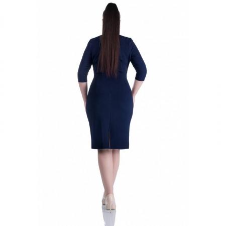 Rochie de zi cu imprimeu floral ALINA, bleumarin