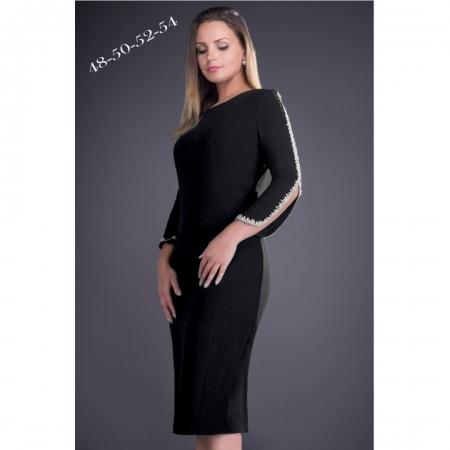 Rochie eleganta cu aplicatii din dantela Otilia, negru