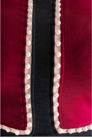 Rochie eleganta cu perle marimi mari Amira, bordeaux