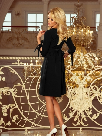 Rochie midi eleganta de ocazie Alice negru2