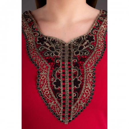 Rochie midi de zi cu accesorii Leila, rosu