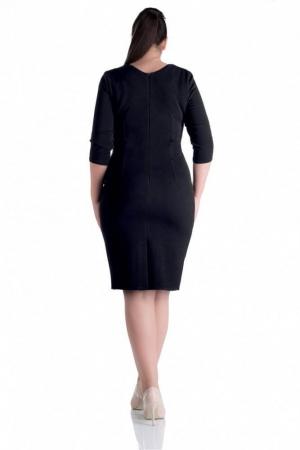 Rochie midi de zi cu dungi Gabriela, negru2