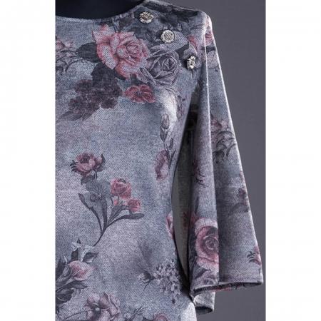 Rochie casual cu imprimeu floral Melania, gri