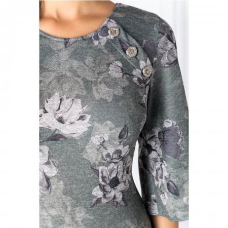 Rochie casual cu imprimeu floral Melania, verde