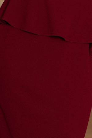 Rochie midi eleganta cu peplum Numoco, grena3