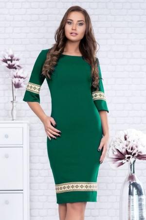 Rochie motive traditionale Eliana, verde1