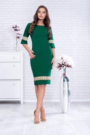 Rochie motive traditionale Eliana, verde0