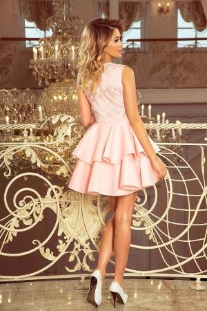 Rochie scurta eleganta de seara Alexis roz pastel2