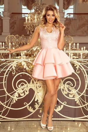 Rochie scurta eleganta de seara Alexis roz pastel0