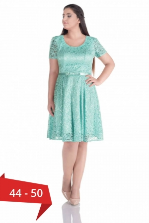 Rochie scurta eleganta din dantela Sonia, verde menta0