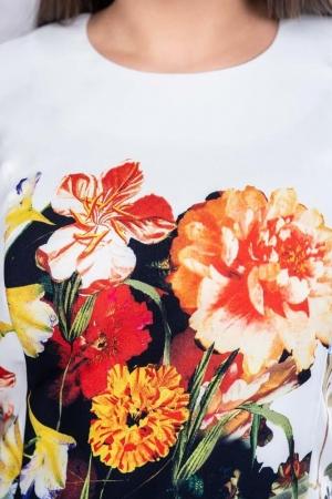 Rochie midi de zi imprimeu floral Romina4