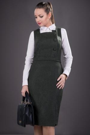 Sarafan elegant de dama Sofia, negru1