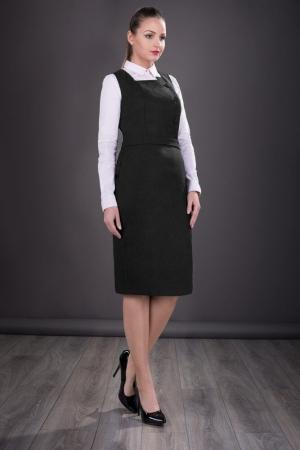 Sarafan elegant de dama Sofia, negru0