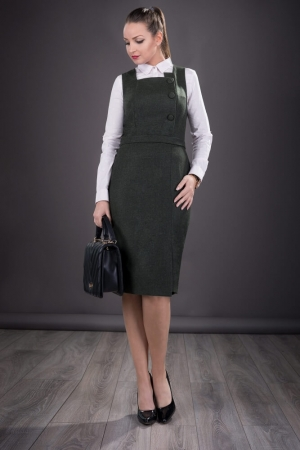 Sarafan elegant de dama Sofia, negru2