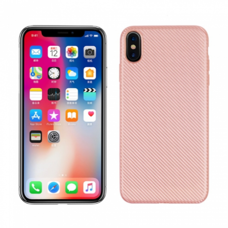 Husa silicon carbon Iphone Xs Max - Rose