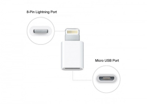 Adaptor de la Micro USB la Lightning Iphone