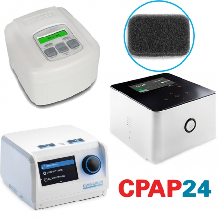 Filtru negru particule grosiere ( > 3 μm) CPAP DeVilbiss  (SleepCube, Blue, Cube 30 ATV)0
