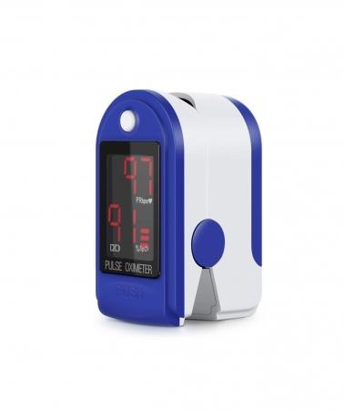 Pulsoximetru CMS50DL (Display LED, SpO2, PR, PI & Plethysmogram, Pulse Bar)0