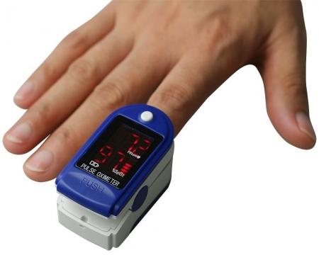 Pulsoximetru CMS50DL (Display LED, SpO2, PR, PI & Plethysmogram, Pulse Bar)2