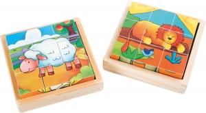 Cuburi puzzle Zoo-Ferma Set de 22