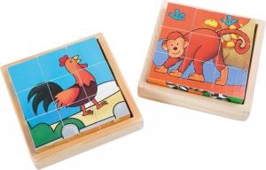 Cuburi puzzle Zoo-Ferma Set de 23
