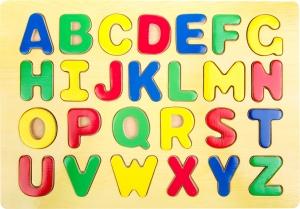 Puzzle lemn Invata literele1
