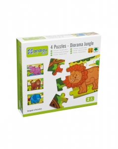 Jungla - 4 puzzle-uri tip diorama0