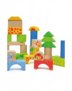 Cuburi de construit din lemn 50 piese1