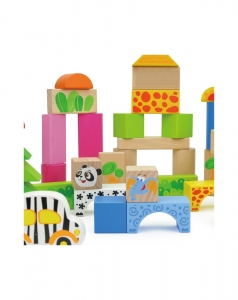 Cuburi de construit din lemn 50 piese2