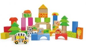 Cuburi de construit din lemn 50 piese0