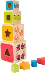 Cuburi mari din lemn ABC0