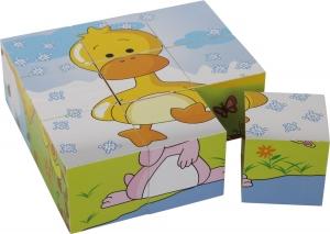 Puzzle cub din lemn Animalele6