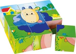 Puzzle cub din lemn Animalele5