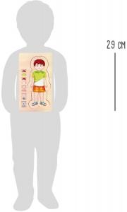 Puzzle din lemn corpul uman Tim3