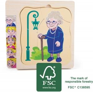 Puzzle in straturi Viata Bunicii0
