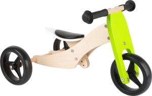 2 in 1 Tricicleta si Bicicleta din lemn0